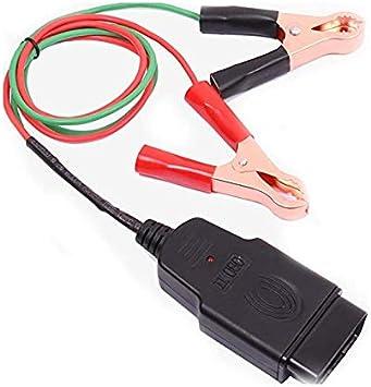 OBD2 Alligator Clip Connector Car ECU Memory Saver OBD 12V Battery Replace Tools