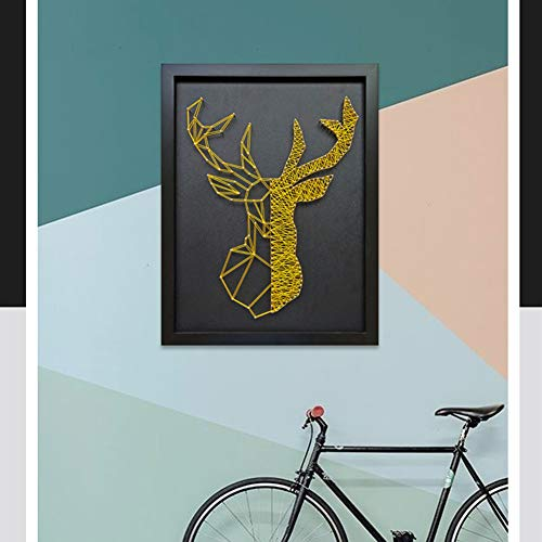 Home Decoration DIY Thread Winding Three-Dimensional Gold Deer Decorative Painting, Mural DIY Material Package Decompression Desktop Decoration Decorations, Parent-Child Manual Interactive Game by Home Decoration (Image #2)