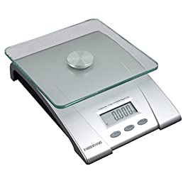 Farberware Professional Electronic Glass Kitchen and Food Scale, 11-Pound, SILVER – 5083276