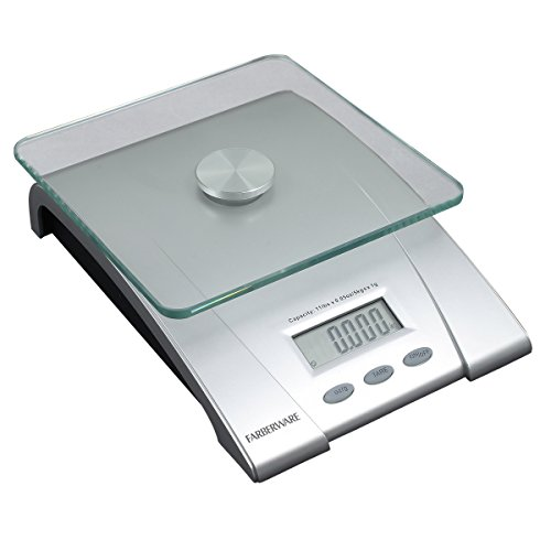 Farberware Professional Electronic Glass Kitchen and Food Scale, 11-Pound