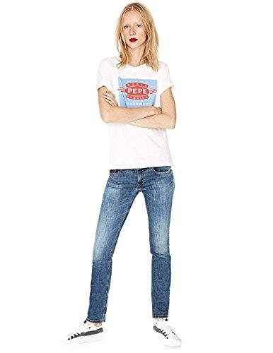 Pepe Jeans Saturn Bleu Denin Femme Bleu
