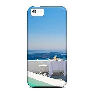 High Grade CaroleSignorile Cases For Iphone 5c - View Out Over Santorini Greece