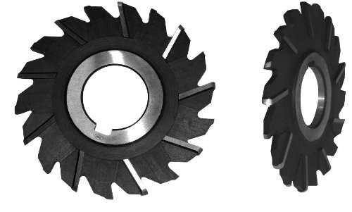 1 ID High Speed Steel 4 Diameter F/&D Tool Company 11663 Staggered Tooth Full Radius Side Milling Cutter 3//8 Width
