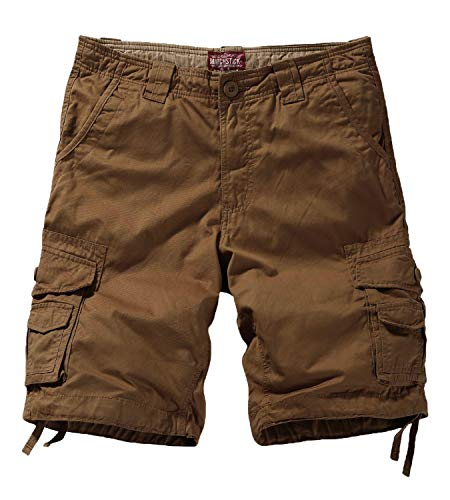 Match Men's Twill Comfort Cargo Short Without Belt #S3612 (Label size XL/34 (US 32), Mud)
