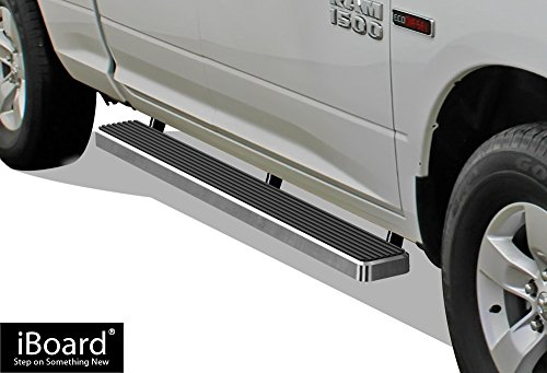 "APS iBoard Running Boards 5"" Custom Fit 2009-2018 Dodge Ram 1500 Quad Cab Pickup 4-Door (Nerf Bars 