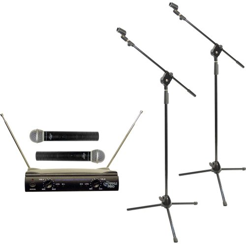 Pyle Dual Mic Stand Package