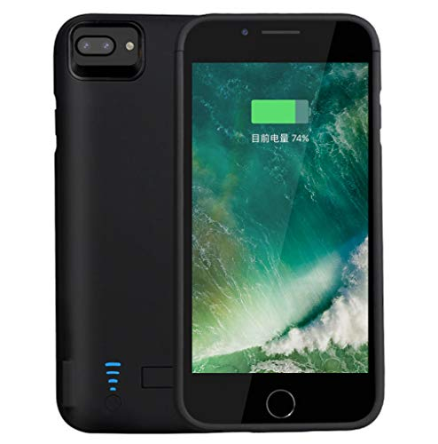 RUNSY Battery Case Compatible with iPhone 7 Plus / 6S Plus / 6 Plus, 8200mAh Rechargeable Extended Battery Charging Case, External Battery Charger Case, Backup Power Bank Case (5.5 inch)