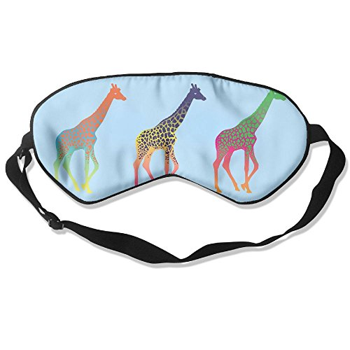 Goods Shops Mulberry Silk Sleeping Masks Three Color Giraffe Eyepatch Eye Masks Adjustable Sleeping Eye Shade -