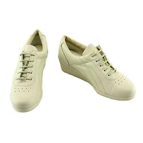 Pieds beige Souple Et Sport Marque Lacet Bopy Sensibles Confort C Confortable Pour Chaussure Femme Compensé Tennis Cuir A Davina wCIx17qU