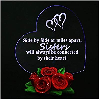 Amazon Giftgarden LED Light Hearts Gift For Sisters With Rose Base Sister Birthday Cake Topper Home Kitchen