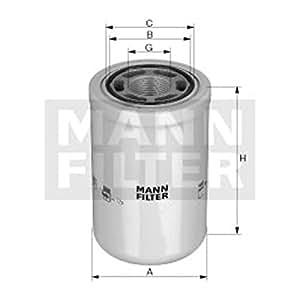 Mann-Filter WH 1257/2 Filtro, Sistema Hidráulico Operador