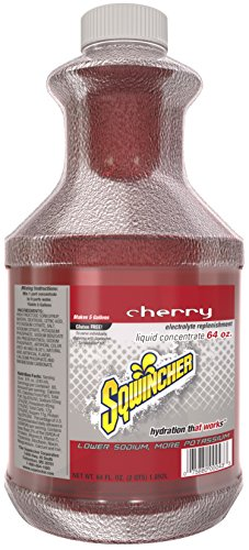 Sqwincher Liquid Concentrate Electrolyte Replacement, 5 Gallon Yield, Cherry 030321-CH (Pack of 6)