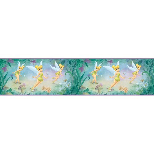 verings DS026271 Very Fairy Tinker Bell 5-Inch Self-Stick Wall Border by Blue Mountain Wallcoverings (Tinkerbell Self Stick)