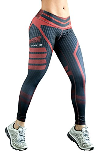 COCOLEGGINGS Ladies Slimming Butt Lift Sport Fitness Cropped Leggings Black XL (And Sports Fitness)