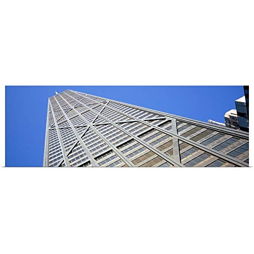 GREATBIGCANVAS Poster Print Entitled Low Angle View of a Building, John Hancock Building, Chicago, Illinois by 48