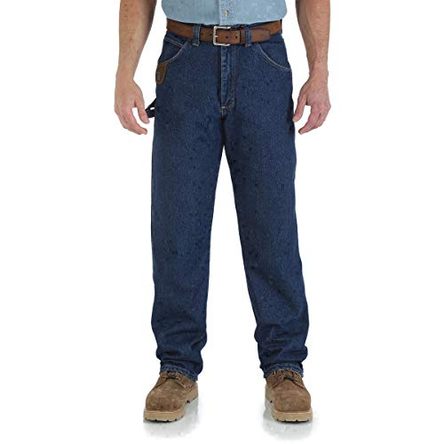 Wrangler RIGGS Workwear 34'' X 30'' Antique Indigo Wrangler RIGGS Workwear 14.5 Ounce Cotton Jeans With Front Zipper Closure by BULWARKRED KAP (Image #1)