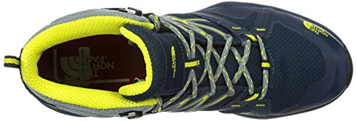 The North Face M Hedgehog Fastpack Lite Mid Gtx, Botas de Senderismo para Hombre, Negro, 7 EU Azul / Amarillo