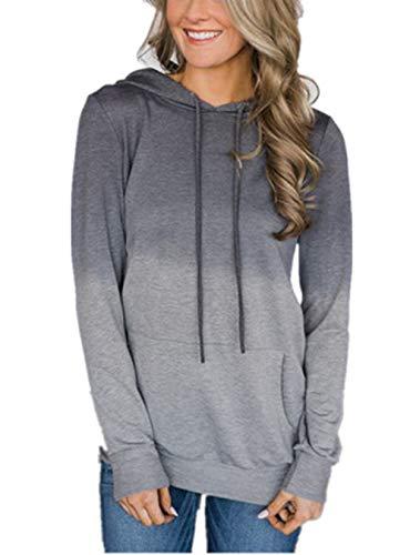 cowl neck hoodie woman - 1