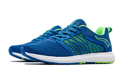 Running Sintético de Material de Verde ONEMIX Azul de Zapatillas Competición Unisex Adultos TOEawZ