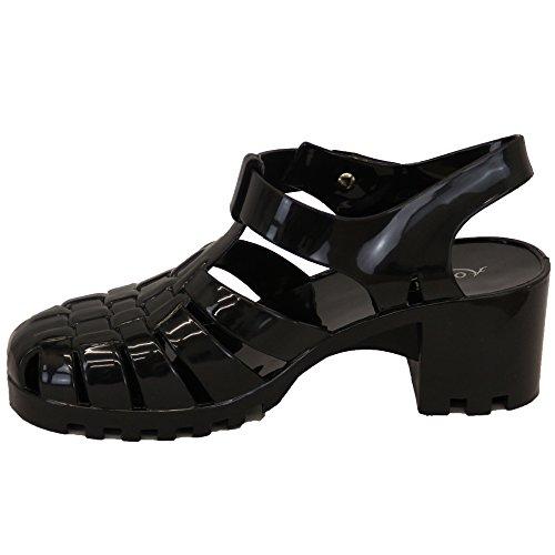 Aomei, Sneaker donna, Multicolore (Black/Coral - JELLYBPK2), 41,5 EU