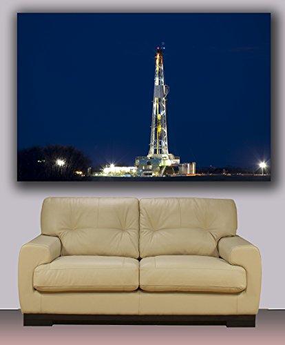 Drilling Oil Rig , Huge Canvas Print, Modern Art, Wall Decoration 30