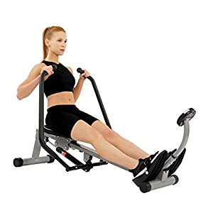 Sunny Health & Fitness SF-RW1410 Rowing Machine Rower with Full Motion Arms and LCD Monitor by Sunny Distributor Inc.