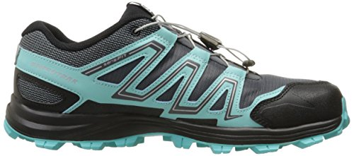 Salomon L39063000, Zapatillas de Trail Running para Mujer Gris (Dark Cloud /             Light Onix /             Bubble Blue)
