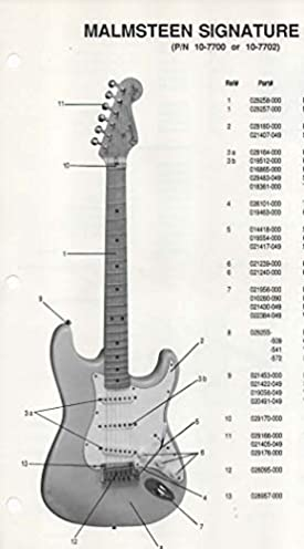 parts list diagram for fender malmsteen signature model stratocaster rh amazon com