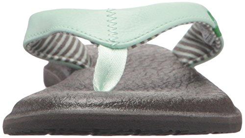 Sanuk Women's Yoga Chakra Flip-Flop Misty Mint 8D4mpdc