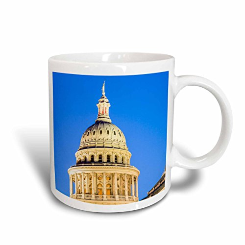 3dRose mug_191730_1 Usa Texas Austin Capitol Building Statue Of The Goddess Of Liberty Ceramic Mug, 11 oz