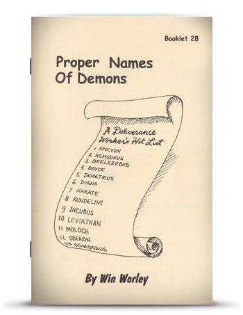 Proper Names of Demons: Win Worley: Amazon com: Books
