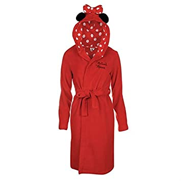 Official Disney Minnie Mouse Ladies Hooded Dressing Gown Robe