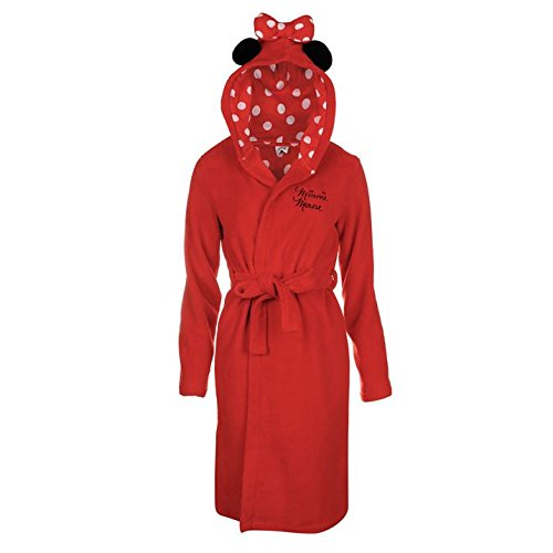 Offizielles Disney Minnie Mouse Damen Bademantel mit Kapuze ...