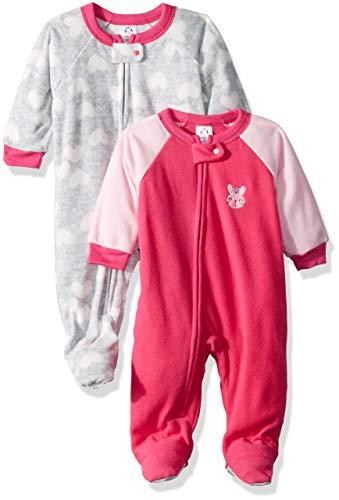 Gerber Baby Girls' 2-Pack Blanket Sleeper, Bunny, 24 Months ()