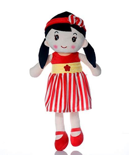Babyjoys Premium Quality Stuffed Soft Doll for Girls RED 40CM