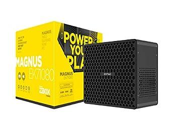 ZOTAC ZBOX-EK71080-U-W2B MAGNUS EK71080 Gaming Mini PC GeForce GTX 1080 Intel Core i7-7700HQ 8GB DDR4 120GB SSD 1TB HDD Win10