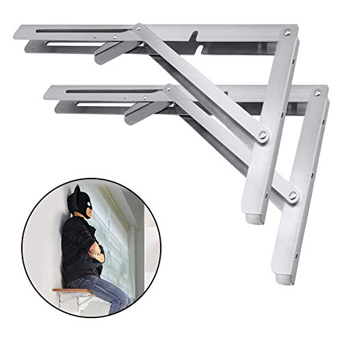 Heavy Duty Folding Shelf Brackets, 2pcs 14