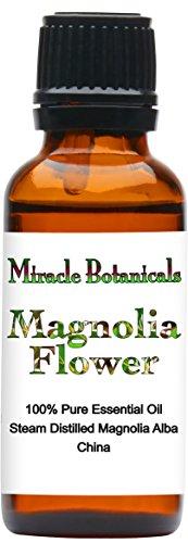 Miracle Botanicals Magnolia Flower Essential Oil - 100% Pure Magnolia Alba - Therapeutic Grade - 30ml/1oz.