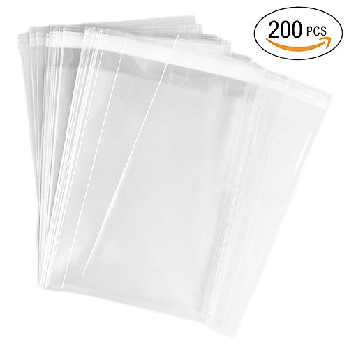 AIRSUNNY 200 Pcs 4x6 Clear Resealable Cello / Cellophane Bags Good for Bakery, Candle, Soap, Cookie Poly Bags