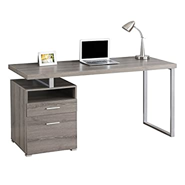 Monarch 60 Computer Desk with Filing Drawer, Dark Taupe (MS-VM7145)