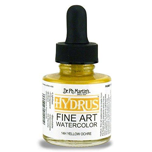 (Dr. Ph. Martin's Hydrus Fine Art Watercolor, 1.0 oz, Yellow Ochre (14H))