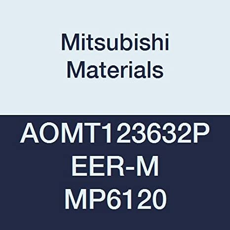 Class M Grade MP6120 Pack of 10 0.016 Corner Radius Mitsubishi Materials AOMT123604PEER-H MP6120 Coated Carbide Milling Insert Parallelogram 85/° 0.142 Thick Chamfer and Round Honing