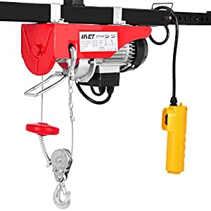 Goplus 440LBS Lift Electric Hoist Crane Remote Control Power System, Carbon Steel Wire Overhead Crane Garage Ceiling…