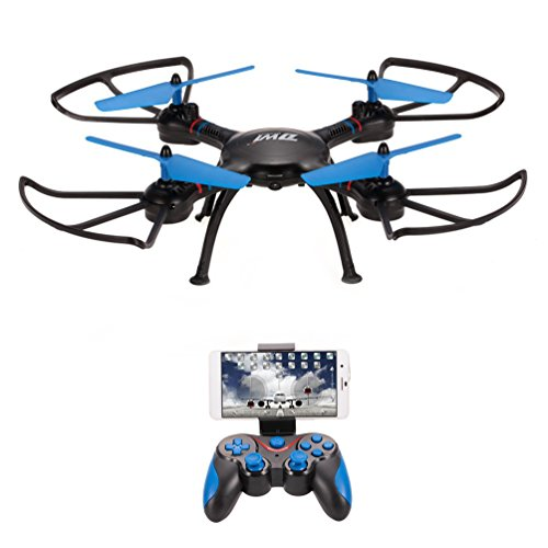 allcaca RC Drone HD 720P WiFi Camera FPV Remote Control Quadcopter 2.4Ghz 4CH 6-Axis Gyro RC Helicopter Low/High/Medium Three Levels Speed,Headless Mode,Altitude Hold One Key Return