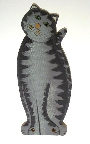 Charming cat design doorstop - ideal for any cat lover - stands 10 inches - Design black with stripes