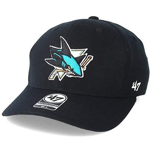 1841b104abb4b0 '47 Brand San Jose Sharks Contender Black Flexfit: Amazon.co.uk: Clothing