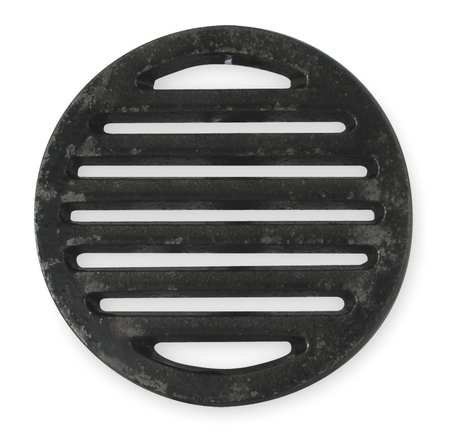 Industrial Grade 1PPF2 Shower Drain Grid, Pipe Dia 5 In, (Cast Iron Drain Pipe)