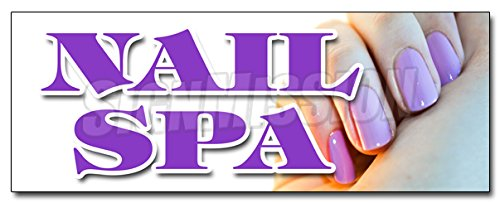 24'' NAIL SPA DECAL sticker manicure pedicure gel acrylic designs walk in by SignMission