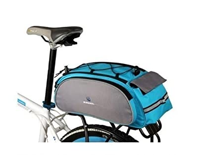 IT MALL New Arrival Bike Bicycle Rack Bag Seat Cargo Bag Rear Pack Trunk Pannier Handbag Multifunctional Bag (Blue)
