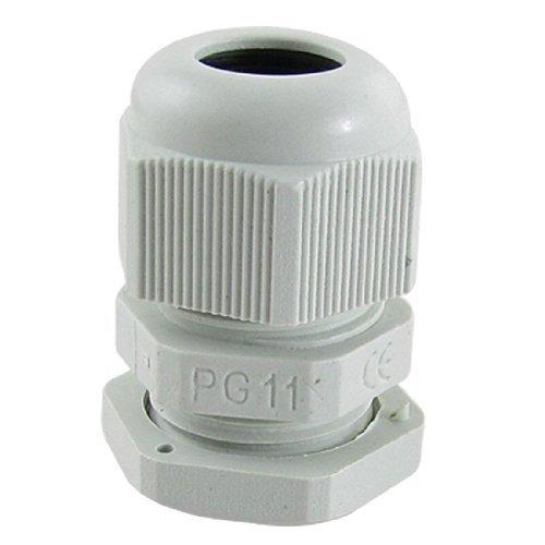 10 Stück weiße Kunststoff PG11 wasserdichte Kabelverschraubungen Steckverbinder, Modell: a11052800ux0096, Tools & Baumarkt